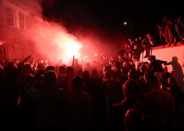 Liverpool followers let off fireworks exterior Anfield to rejoice Premier League trophy elevate as 1000's ignore police recommendation