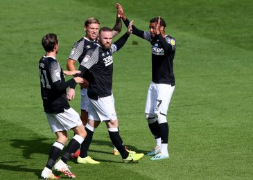 Wayne Rooney's beautiful free-kick strikes Derby nearer to prime six, West Brom bounce again, Huddersfield climb out of relegation zone