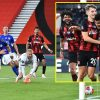 Dominic Solanke scores first Premier League targets for Bournemouth as they arrive from behind to beat 10-man Leicester