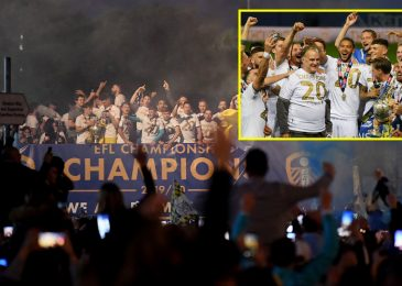 Leeds gamers serenade Marcelo Bielsa and parade Championship trophy to a whole lot of followers exterior Elland Street on open-top bus