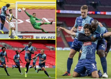Wycombe Wanderers promoted to Championship for first time with victory over Oxford United in League One play-off ultimate