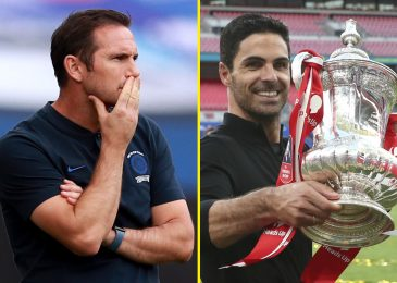 Chelsea boss Frank Lampard should settle for blame and signal defenders, whereas Mikel Arteta is the toast of London