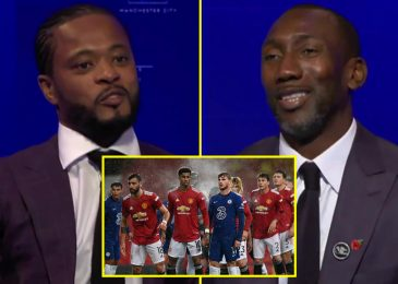 Patrice Evra and Jimmy Floyd Hasselbaink get into HEATED debate on Sky Sports activities following Manchester United and Chelsea's boring draw