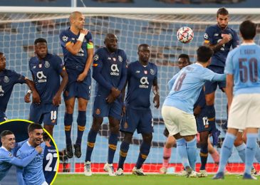 Gorgeous Ilkay Gundogan free-kick sparks Man City comeback win vs Porto in Champions League as Raheem Sterling makes 250th look for membership