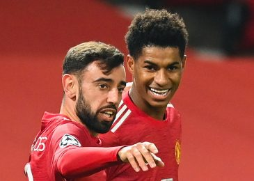 Manchester United midfielder Bruno Fernandes reveals why he gave up probability of first-half Champions League hat-trick and handed Marcus Rashford a penalty