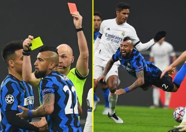 Inter Milan star Arturo Vidal despatched off for squaring as much as referee Anthony Taylor as he receives quick-fire yellow playing cards vs Actual Madrid