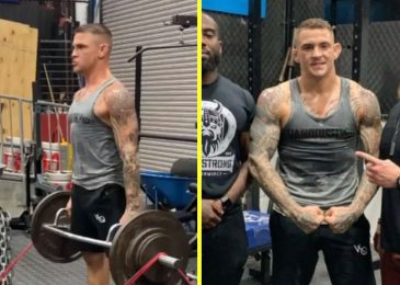 Dustin Poirier seems to be completely JACKED in new coaching photos as Conor McGregor rematch is confirmed for UFC 257