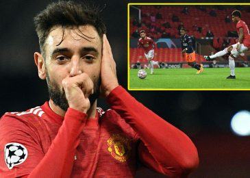 Bruno Fernandes scores brace however offers up hat-trick probability to Marcus Rashford as Manchester United take step nearer to Champions League knockout levels