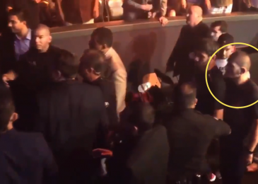 Watch UFC insurgent Nate Diaz 'slap' Khabib Nurmagomedov after huge brother Nick Diaz threw a drink at him