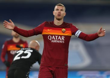 Everton and West Ham contemplating shock swoop for Roma outcast Edin Dzeko with former Man City ace out of favour in Italy