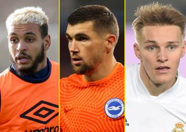 Switch information LIVE: Arsenal to signal Odegaard after Ryan joins, Leicester need Joao Palhinha, Burnley and West Ham need Josh King, Manchester United lead Veron race