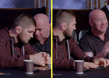 Dana White seen on digicam making an attempt to goad Khabib Nurmagomedov out of retirement with Conor McGregor PPV jibe as he predicts Irishman will KO Dustin Poirier in two rounds