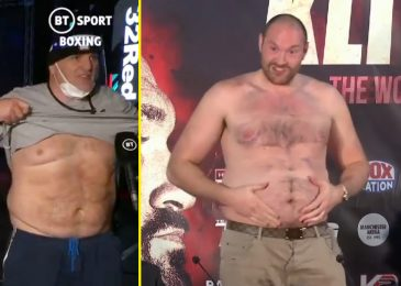 Watch as John Fury matches Tyson Fury by getting his stomach out on reside TV after Tommy Fury KO and says, 'I am fats as a pig, however I can run ten miles'
