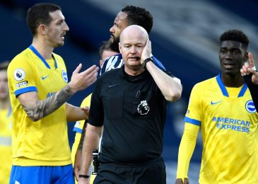 Brighton captain Lewis Dunk calls out Lee Mason for 'embarrassing' choice in West Brom defeat and divulges what referee mentioned to him