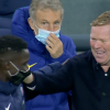 Ronald Koeman noticed laughing with Paris Saint-Germain star Idrissa Gueye as Barcelona are torn aside by Kylian Mbappe