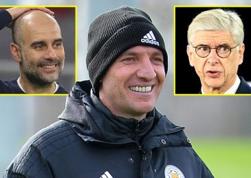 Brendan Rodgers was linked as Arsene Wenger's alternative at Arsenal however didn't even get an interview and might now lead Leicester 18 factors away from the Gunners