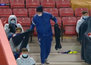 Chilly Chelsea substitutes handed out blankets throughout Liverpool conflict at Anfield as Martin Tyler jokes 'what's occurring to footballers nowadays?'