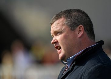 Main horse racing coach Gordon Elliott quickly banned from racing in Britain over 'horrendous and horrific' image of him sat on a useless horse