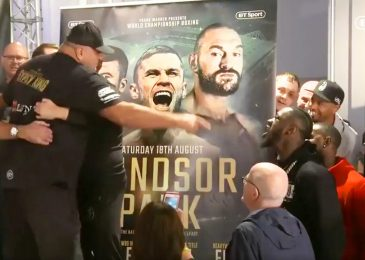 Watch when Tyson Fury's father John Fury confronted Deontay Wilder in heated argument and needed to be held again whereas shouting, 'You possibly can't beat me'