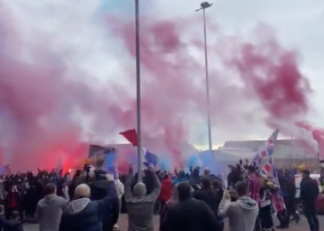 Rangers followers collect outdoors Ibrox to rejoice imminent Scottish Premiership title victory as wild scenes of jubilation emerge