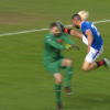 Rangers striker Kemar Roofe despatched off for SHOCKING problem with blood pouring from Slavia Prague goalkeeper's head
