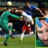 Rangers striker Kemar Roofe despatched off for 'cowards' problem with blood pouring from Slavia Prague goalkeeper's head as Steven Gerrard's males crash out of Europa League