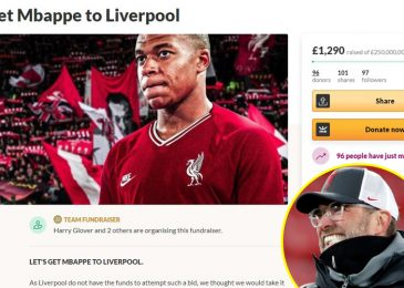 Liverpool followers urged to 'make historical past' and 'shock the footballing world' as £250million GoFundMe is began in bid to make Kylian Mbappe switch occur