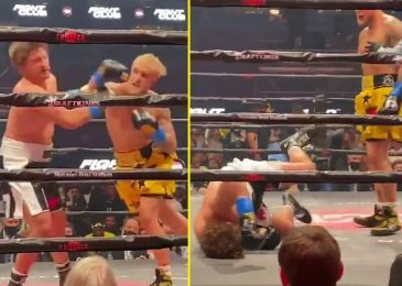 Watch brutal ringside footage of Jake Paul's knockout win over Ben Askren as Logan Paul makes use of video to ship KO message to Floyd Mayweather