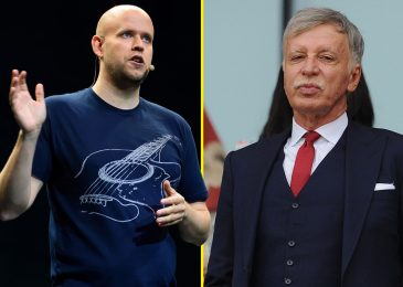 Spotify billionaire Daniel Ek formally confirms he HAS made bid for Arsenal, however it's DECLINED by Kroenkes who say they 'do not want the cash'