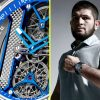 Khabib Nurmagomedov flashes new watch given to him by identical firm who produced Conor McGregor's $2.2m UFC 257 piece