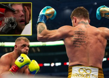 Brit taken to hospital after struggling suspected fractured eye socket in Canelo defeat, coach explains why battle was stopped