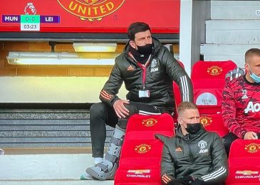 Manchester United captain Harry Maguire on crutches and carrying protecting boot however might play in Europa League last regardless of ligament harm as Ole Gunnar Solskjaer offers optimistic replace