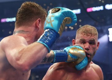 Canelo Alvarez 'CAVED IN' Billy Joe Saunders' eye as coach Mark Tibbs reveals what was stated within the nook after spherical eight