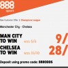 9/1 for Man City or 28/1 for Chelsea to win