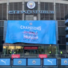Liam Gallagher leads celebrations and membership unveil banner after Leicester beat Man United