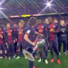 Remembering when Alex Tune hilariously thought Barcelona captain Carles Puyol wished him to carry LaLiga trophy first forward of Eric Abidal