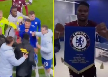 Thiago Silva fumes at Daniel Amartey throughout brawl between Chelsea and Leicester gamers after Foxes man threw Blues pennant on flooring after FA Cup ultimate
