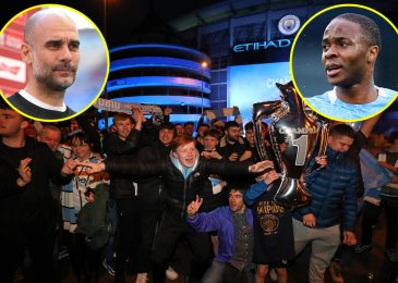 Pep Guardiola dedicates 'hardest title' to late Man City legend Colin Bell as Raheem Sterling and Benjamin Mendy lead celebrations of Premier League glory on Twitter