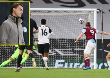 Chris Wooden notches 50th Burnley aim as Fulham's Premier League relegation is confirmed after Craven Cottage defeat