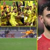 Manchester United overwhelmed by Villarreal in unbelievable Europa League last penalty shootout as Bruno Fernandes weeps on the pitch after David de Gea sees essential penalty saved