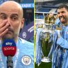 Pep Guardiola cries as Sergio Aguero breaks Wayne Rooney report and bows out with 184 Premier League targets as Man City thrash Everton and have fun title
