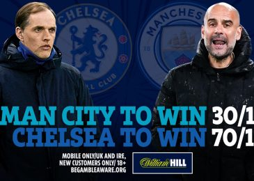 Get 70/1 on Chelsea to beat Man City on Saturday, Pep Guardiola's aspect out there at 30/1