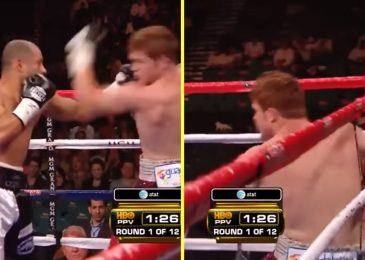 The one time Saul 'Canelo' Alvarez was damage and wobbled got here on Floyd Mayweather undercard