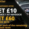 Get £60 in FREE BETS for Haydock on Friday