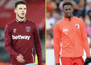 Ex-West Ham starlet Reece Oxford suggestions former aspect for late Champions League push as Augsburg midfielder hails 'actually skilled' Declan Rice