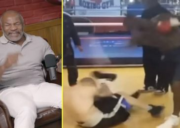 'I'd be in jail for that' – Mike Tyson watches video of Deontay Wilder beating up bully in health club with Andy Ruiz Jr and former UFC champion Henry Cejudo