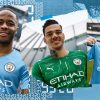 Man City reveal new dwelling package which pays tribute to Sergio Aguero's well-known Premier League title-winning objective towards QPR and Micah Richards loves it