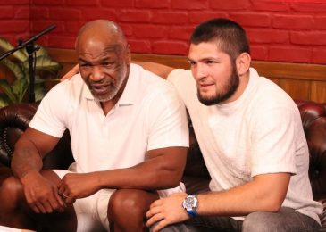 Khabib Nurmagomedov meets Mike Tyson to report podcast as retired UFC star pays tribute to boxing icon
