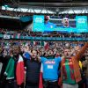 England followers chant 'It is Coming House' at Wembley throughout Italy vs Spain semi-final and get drowned out by boos
