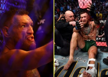 Joe Rogan reveals what Conor McGregor stated to him earlier than unleashing tirade of abuse at Dustin Poirier and spouse Jolie after UFC 264 leg break